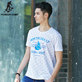 Pioneer Camp Fashion New Navy Wind Soft Thin Men T shirt Summer Style Printed Tee Men Cotton T shirt Fitness For Youth 622079