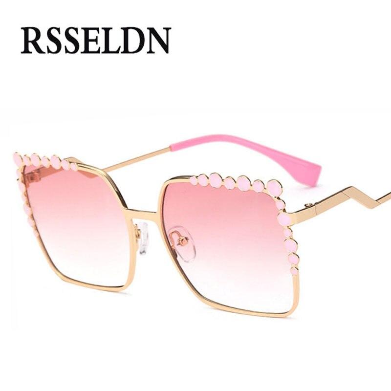 RSSELDN Nouveau De Mode Ensemble Tarière lunettes de Soleil Femmes Marque Conception Vintage Carré Lunettes de Soleil Femme Oculos De Sol Feminino
