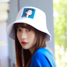 2019 Printed Pretty Girl Bucket Hat Cap Women Hip Hop Caps Men Fisherman Panama Sun Hats Casual Fashion Flat