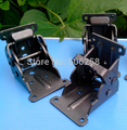 Black Folding hinge with Screw / Folding Table Legs hinges / 90 self-locking coffee table Furniture Hardware 50PCS