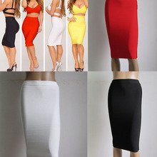 Factory Outlet Wholesale variety of colors Stretch knit Fashion with Celebrity Bandage Skir