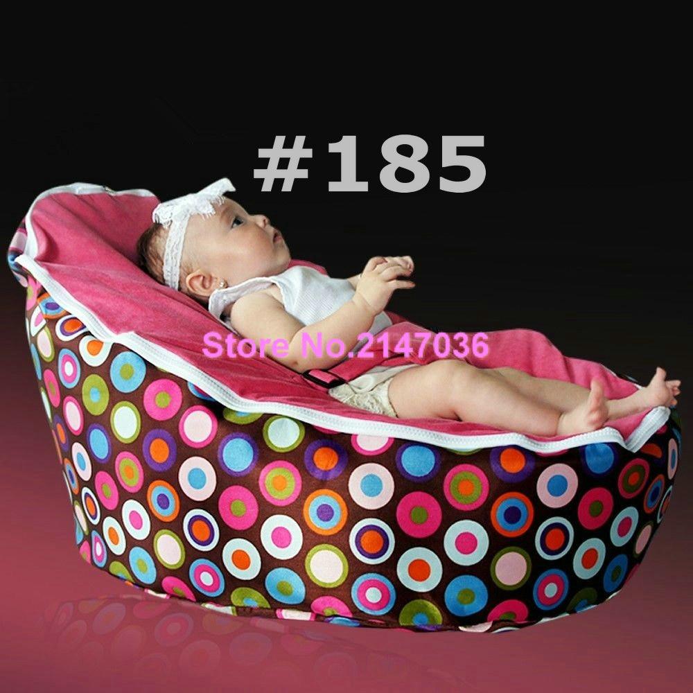 все цены на Popular Sprinkles cream seat Polyester Baby Bean Bag for Sleep Baby Bean Bag Chair OEM онлайн