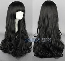 Biamoxer rwby blake belladonna cosplay perucas longo preto ondulado resistente ao calor cosplay peruca traje