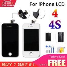 Grade AAA + LCD Screen Für iPhone 4 4 S LCD Touch Digitizer bildschirm Ersatz Montage Komplette Display Für iPhone4S 4G LCD A1387