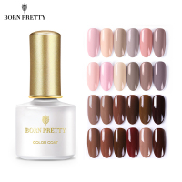 BORN PRETTY 12 Pcs Nail Gel Polish Set Nude Coffe Soak Off UV Gel Lacquer Nails Polish Kit Manicure LED Varnish