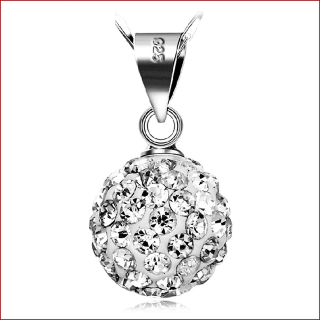 Rhinestone Ball Necklaces Vintage Silver-Copper Jewelry Wholesale Natural Crystals B2//Wh ABC