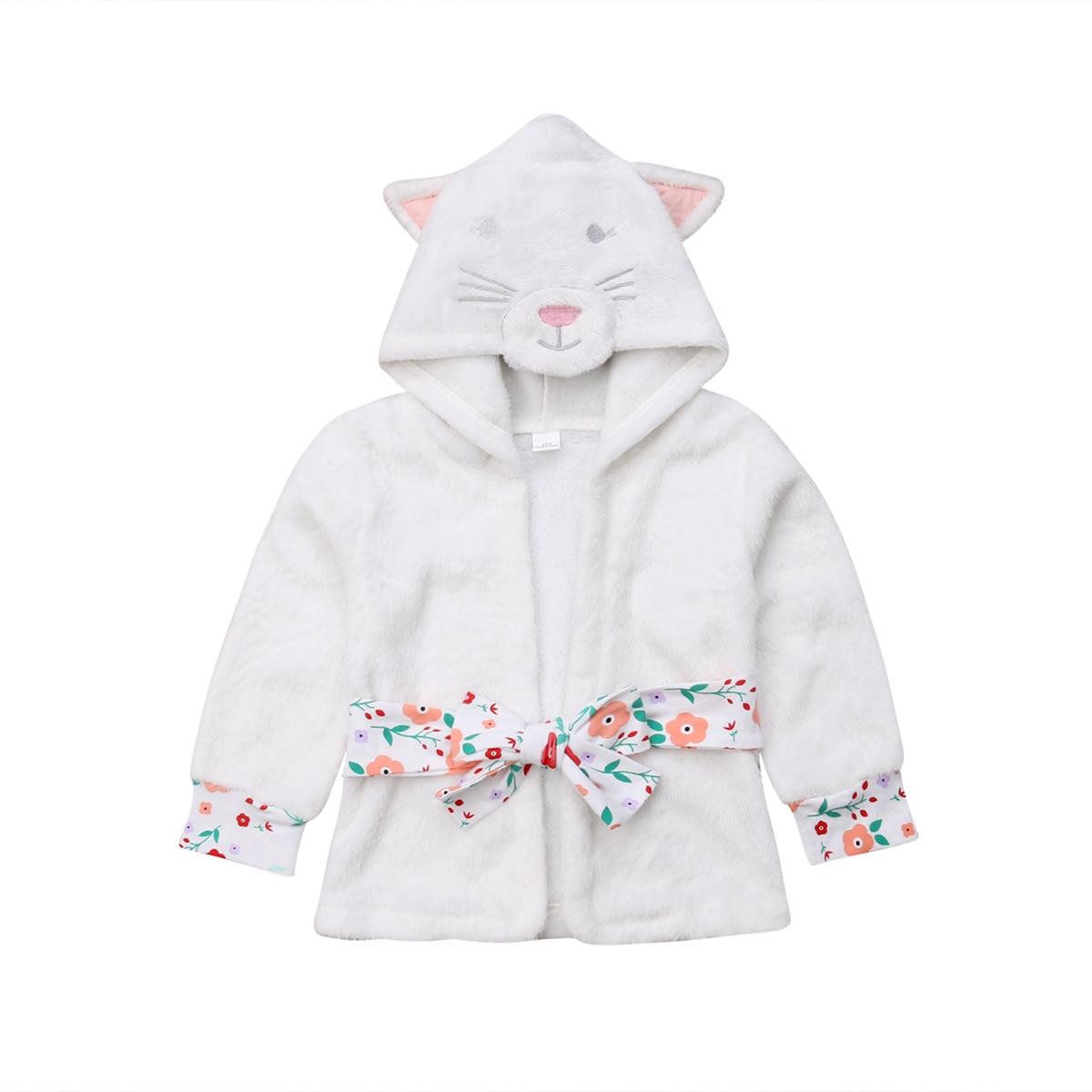 Baby Kinder Jungen Mädchen Warme Mit Kapuze Bad Robe Super Nette Cartoon Nachtwäsche Nachtwäsche Pjs Kleidung 1-5 T