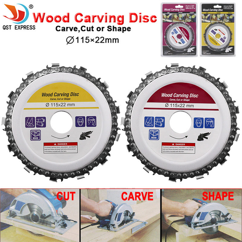 115x22mm Circular Saw Blade Chainsaw Chain Wood Carving Disc Woodworking Angle Grinders Universal For Wood Cutting Discs 4.5inch
