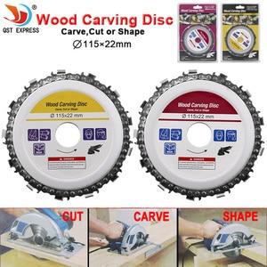 Image 1 - Hoja de sierra Circular de 115x22mm, cadena de motosierra, disco de tallado de madera, amoladoras angulares para carpintería, Universal para discos de corte de madera de 4,5 pulgadas