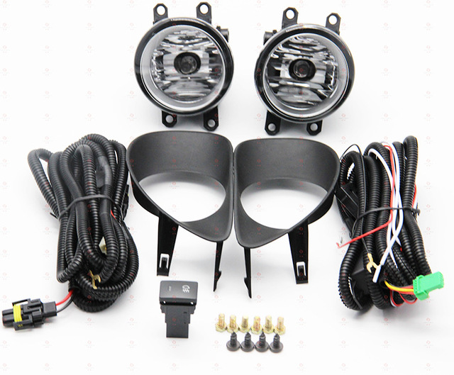 hireno car fog lights for toyota yaris 2006 2007 2008 cable harness halogen  fog lamp switch control set 2pcs