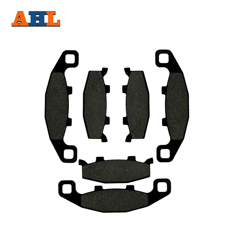 AHL 3 Pairs Motorcycle Front & Rear Brake Pads For KAWASAKI ZX 600 GPX 600 R ZR 750 C ZX 750 GPX 750 ZX 1000 B ZX10 motorcycle front rear brake pads for kawasaki gpx 600 r zx600 1988 1996 gpx 750 r zx750 1987 1989 zr750 1991 1995 zx100 zx10 p04