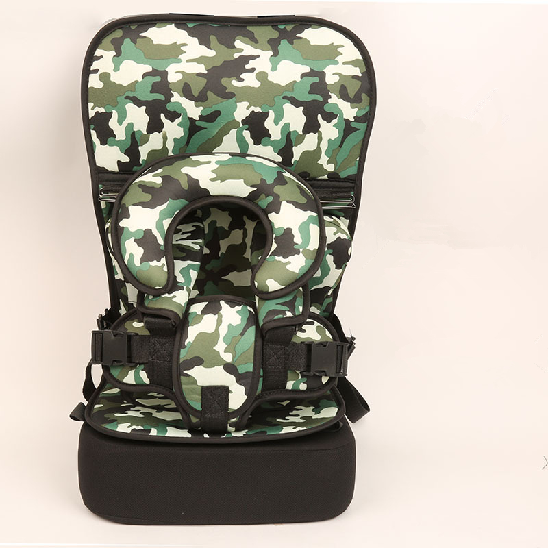 1 Piece Army Green Baby Portable Car Seat Cushion Child Safety Seat Kid Simple Dining Chair Small/Big Size Increase Pad Optional