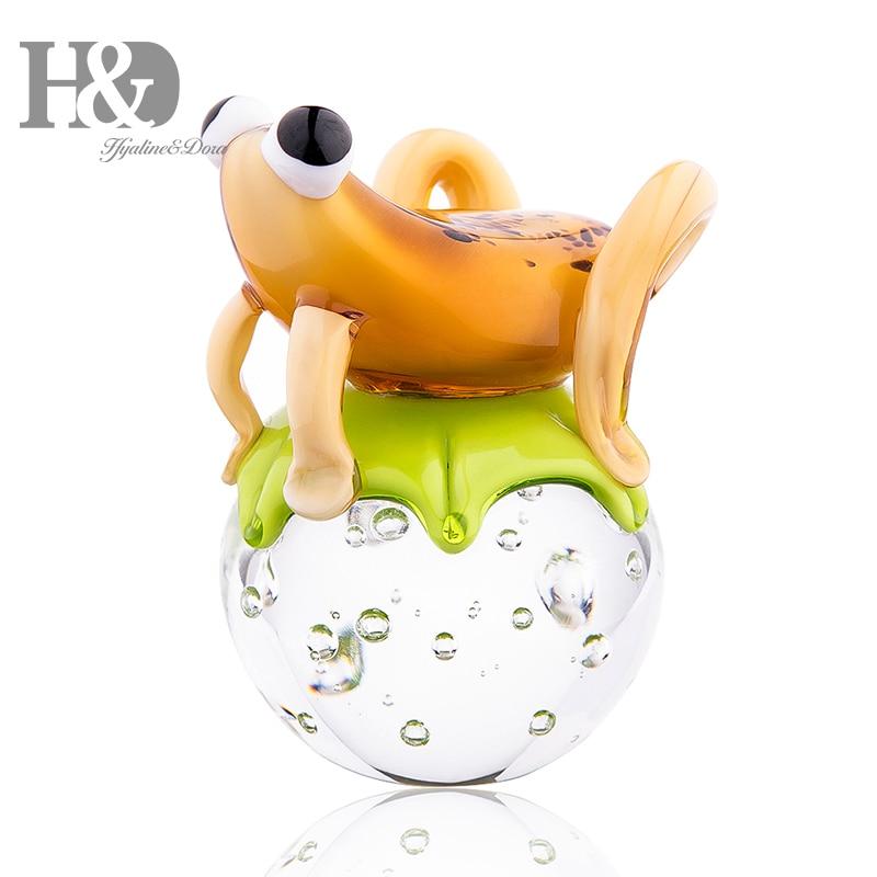 H & D 4.7 ''Art verre artisanat Mini grenouille Collection presse-papiers en verre soufflé à la main Animal Table pièce maîtresse ornement cadeaux de noël