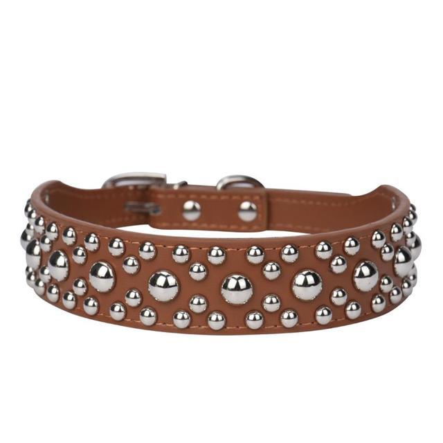 Regolabile Cuoio Rivet Spiked Pet Puppy Dog Collare Neck Strap Caratteristica: