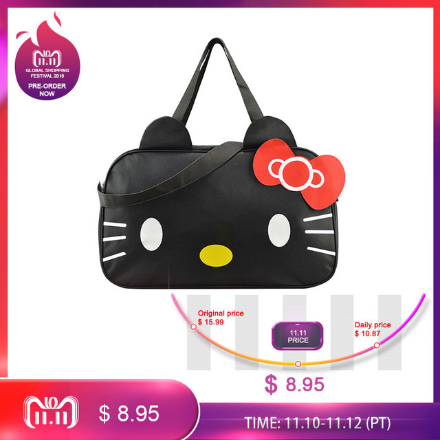 58805c056 Mihawk Cute Hello Kitty Handbag Girl's Women's Travel Messenger Bags  Dual-use Organizer Shoulder Accessories Supplies Products