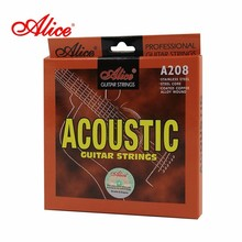 Alice Brand String Imported Stainless Steel Wire Angular Steel Core 6Pcs/set For Acoustic Guitar Strings A208