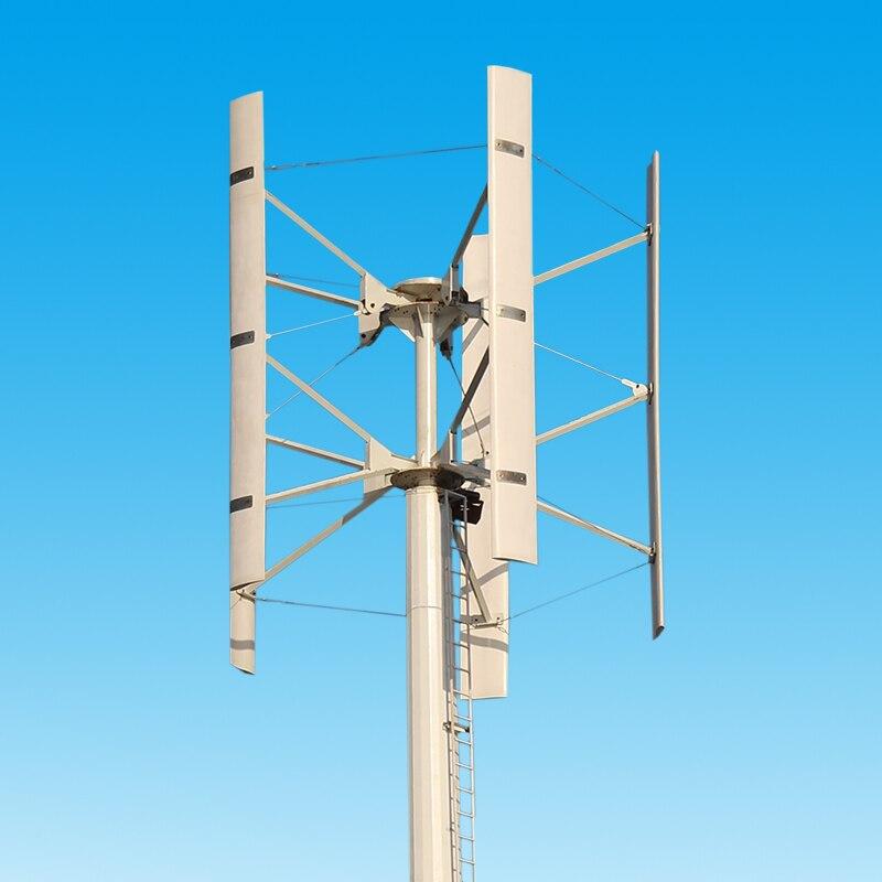 DC12V/24 V 100 W/200 W/300 W en forme de H axe Vertical éolienne générateur Maglev énergie propre installation de production d'énergie extérieure - 2