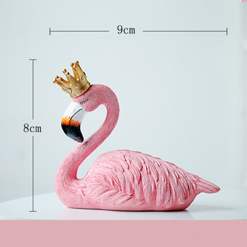 Vacclo 1pc ins Creative House Decoration Flamingo Ornament for The Wedding Gift Birthday Party Weeding Decoration Party Supplies 9