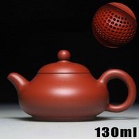Authentic Ceramic Teapot Yixing Purple Clay Teapots 130ml Chinese Handmade Tea Pot + 3 Cups Kung Fu Set Zisha Porcelain Kettle