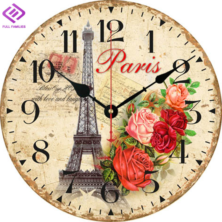 Antique wooden wall clock for kitchen relogio de parede - Objetos de decoracion vintage ...