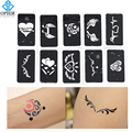 OPHIR 10 PCS Airbrush Temporary Tattoo Stencils(Cute Heart series) for Body Painting Stencil Wing Designs 7.1cm x 3.6cm_TA032D