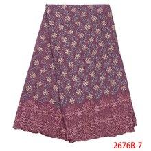 Africano tecido de renda seca swiss voile com pedras swiss algodão rendas alta qualidade 2019 cebola rendas tecidos para o casamento NA2676B 1