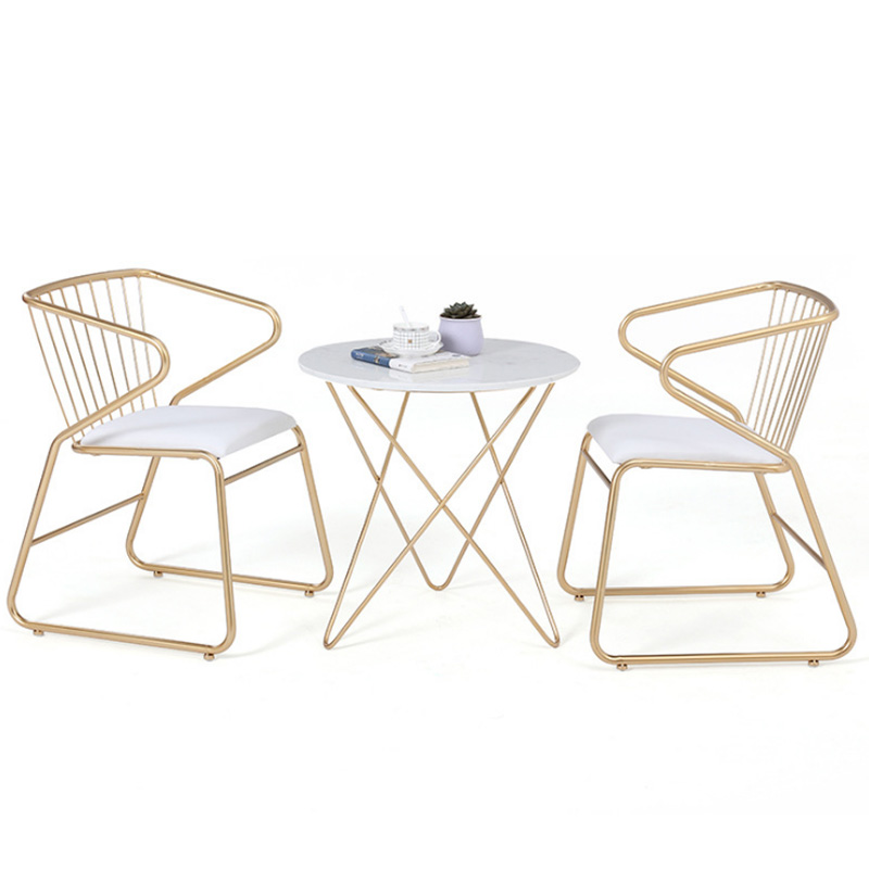 Wrought Iron Chair Rent Lift Modern Leisure Creative Cafe Dining Nordic Golden Office Coffee