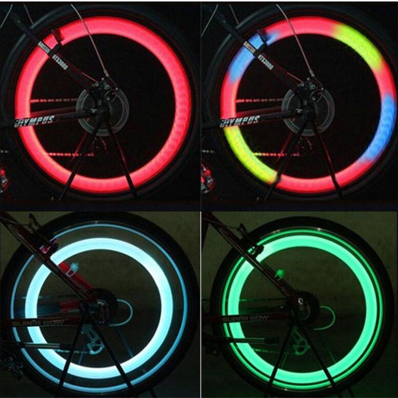 Radios de bicicleta impermeables luces de advertencia de seguridad Ciclismo Willow LED Neumático Tapas de llantas Lámpara de rueda brillante Accesorio de bicicleta de carretera de montaña