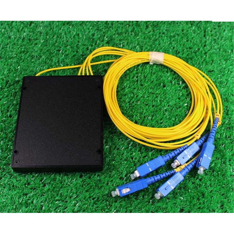 1 Points 4 Telecom PLC Cassette SC Optical Splitter GPON Planar Waveguide Fiber optical branching device