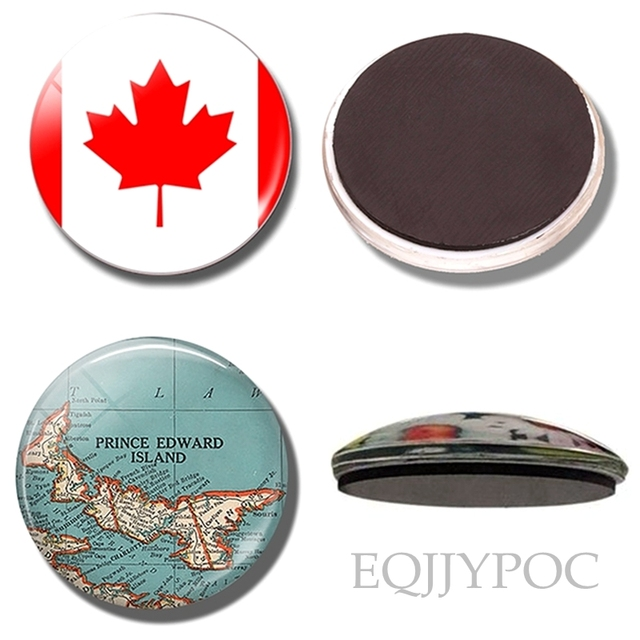 Travel fridge magnets canada countries souvenir Canadian flag Prince on