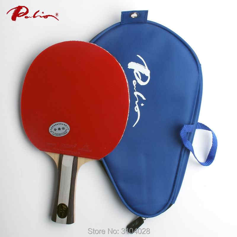 Palio official two stars finished racket pimples in for both rubber fast attack with loop ping pong game racquet game