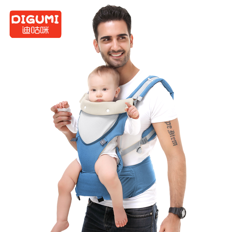 DIGUMI 3 in 1 Baby Carrier Kangaroos Carrier sling Storage bags Backpack Hipseat for newborn prevent o-type legs Ergonomic baby free shipping luxury baby carrier hip seat for newborn and prevent o type legs sling baby kangaroos