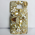 Top Quality Rhinestone Cases For Samsung Galaxy S6 Bling Hard Plastic Back Cover Phone Case for Galaxy s5 s6 edge s7 edge note 5