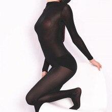 Plus Size Unisex One Piece Tights Half Coat Ice Silk Transparent Bodystocking Sexy Hot Erotic Linger