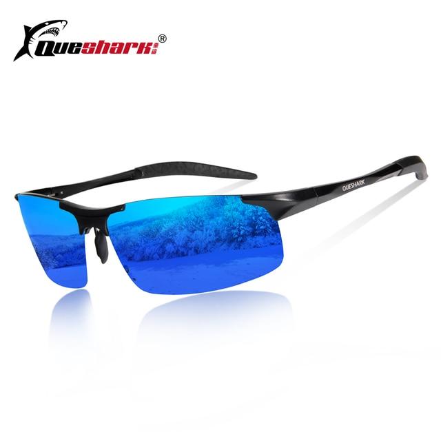 621c912225 Queshark Magnesium Aluminum Polarized Cycling Sunglasses Men Women Uv400  Sports Bicycle Glasses Mountain Road MTB Bike