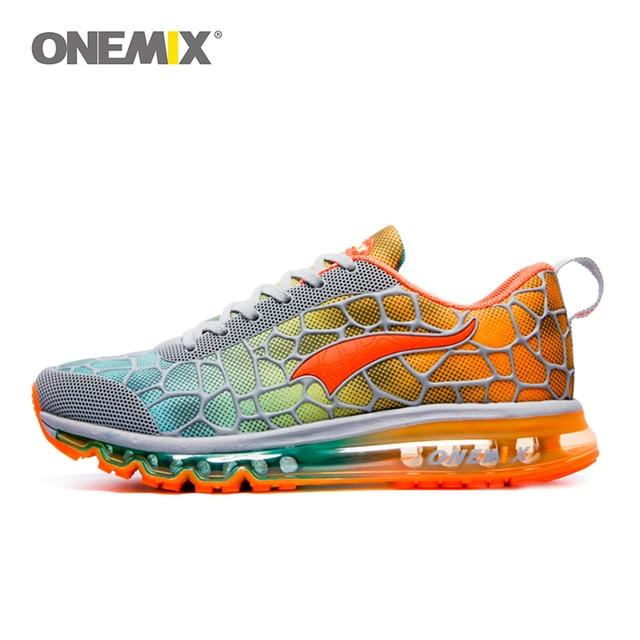 Onemix новые мужские кроссовки дышащие уличные спортивные Прогулочные кроссовки hommes спортивные chaussures de course Большие размеры 35-47