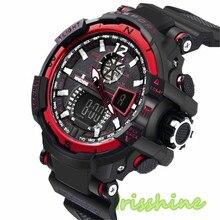 Irisshine i0635 New Men's Rubber Band LED Digital Sports Waterproof Diving Quartz Wrist Watch Men watches Gift y91