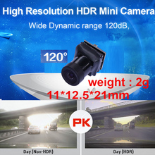 wide dynamic 120dB HDR 1000 TV line mini camera 60 fps drone camera 120 degree CCTV camera w/ MIC. 1/3 sensor 1000 tvl camera 2g