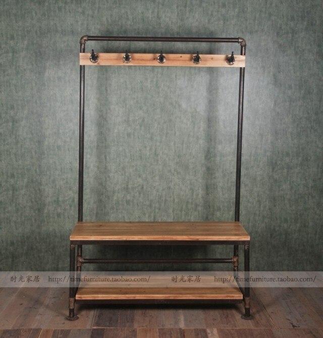 Grifo American Vintage industrial perchas de madera hierro cambiar ...