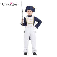 Umorden Fantasia Ragazzi Napoleone Cosplay Costume per Bambini per Bambini Spagna Regno Unito Navy Uniforme di Halloween Purim Carnevale Disfrace