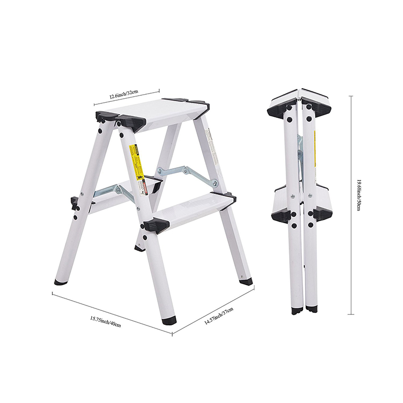Peachy Us 31 3 10 Off 2 Foot Aluminum Stepladder Portable Folding Step Stool 300 Pound Duty Rating White In Step Stools Step Ladders From Furniture On Ncnpc Chair Design For Home Ncnpcorg