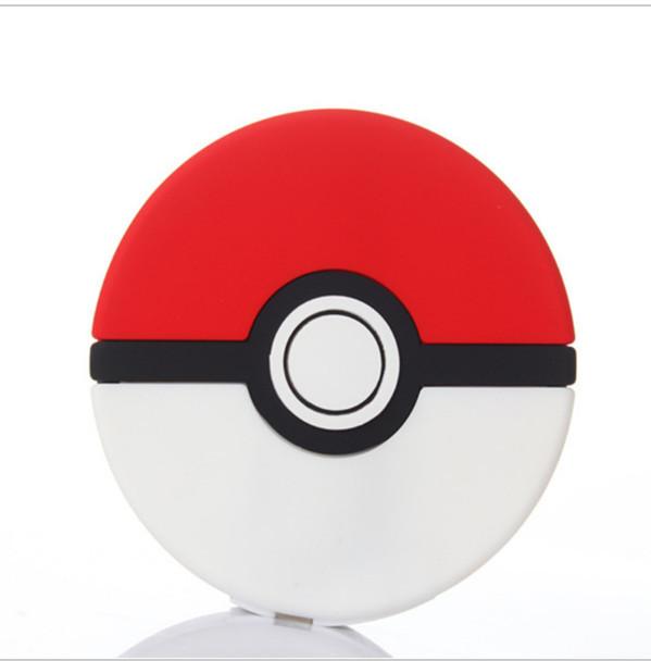 2600 mah Pokemon Pokeball IR Banco de la Energía Banco de la Energía Banco de la Energía de Carga Del Teléfono de Dibujos Animados de PVC 3D Batería Externa Pokemons IR Powerbank