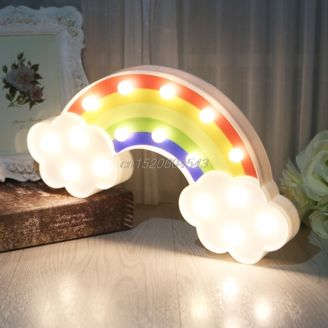 3D Rainbow modelling LED Night Light Decorative Bedroom Lamp Battery Operated R07 Drop ship 2
