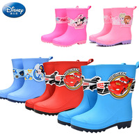 Disney children's rain boots Frozen girls non slip waterproof shoes car boys cartoon mickey mouse rubber shoes