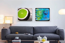 abstract canvas painting mural prints posters modern decorative picture geen lemons art home pictures