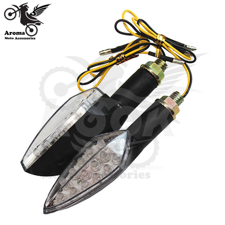 high quality motorcycle turn signal lights blinker indicator flashers 5 colors 12V universal motocross LED Blinker Lighting