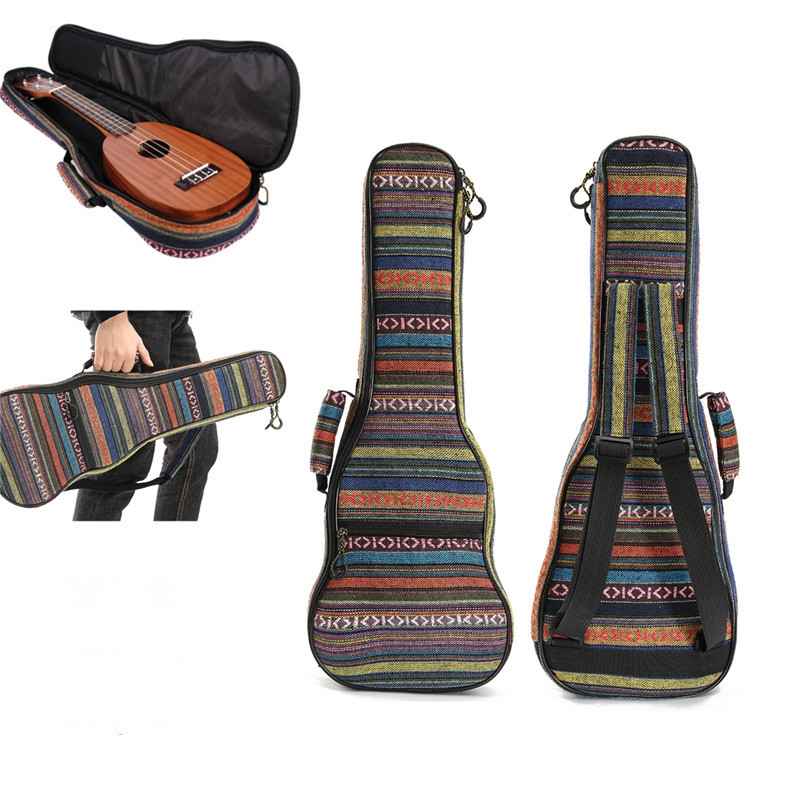 Zebra 21 23 26 Inch Cotton Guitar Gig Bag Nylon Padded Portable Ukulele Case Box Bass