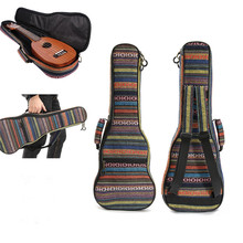 Zebra 21 23 26 Inch Cotton Guitar Gig Bag Nylon Padded Portable Ukulele Case Box Bass Guitar Cover Backpack With Double Straps
