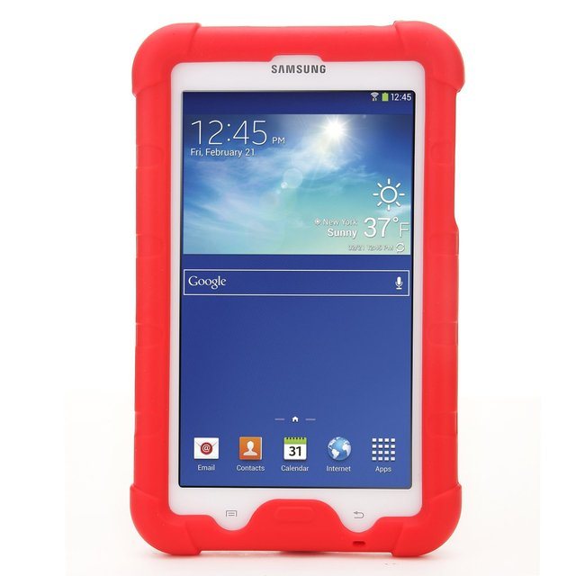 Silicone Case For Samsung Galaxy Tab 3 Lite 7.0 (2014) SM-T110/T111 and Galaxy Tab 4 E Lite 7.0 (2016) SM-T113/T116 Tablet Cover