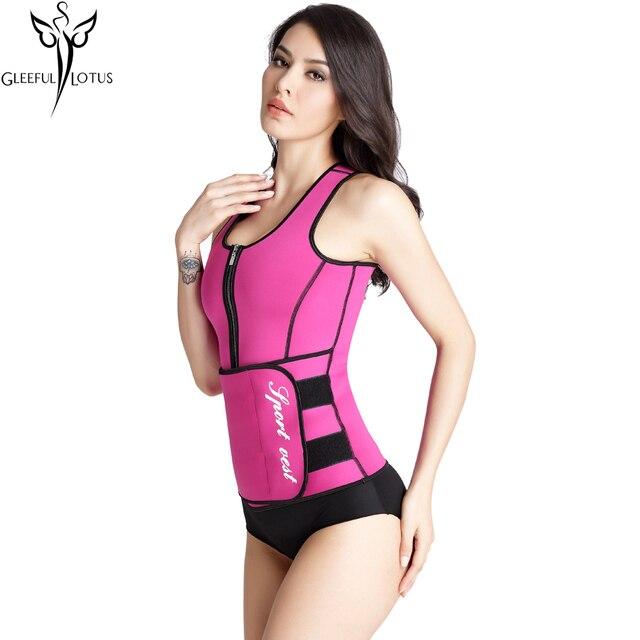 a4aaee404 Neoprene Sauna Waist Trainer Vest Hot Shaper Slim Workout Shaperwear Belly  Slimming Sheath Sweat Belt Fajas